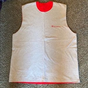 Champion men's Large muscle tank top NWOT red grey